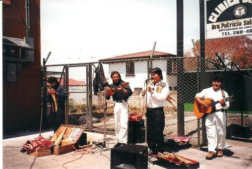 A band plays at the local market, San Rafael de Heredia, Costa Rica; Photo:KFawcett