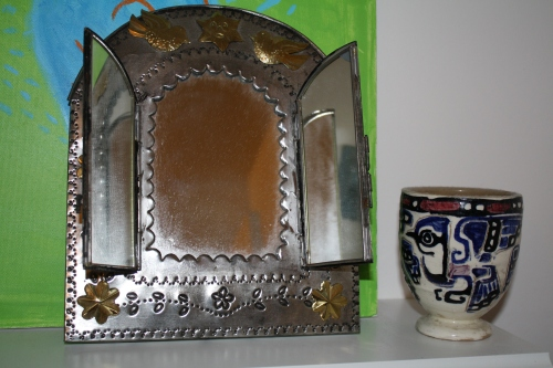Tin mirror from Mexico; Photo:KFawcett