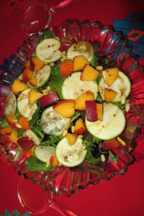 Fresh peach salad; Photo:KFawcett