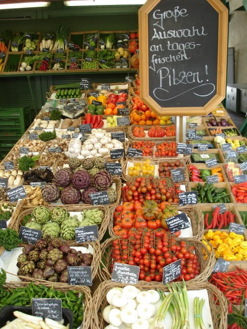 Market, Munich Germany; Photo:DFawcett