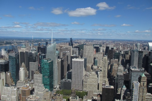 Empire State Building, looking toward Central Park; Photo:KFawcett