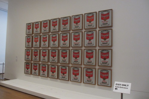 Warhol's Soup Cans; Photo:KFawcett
