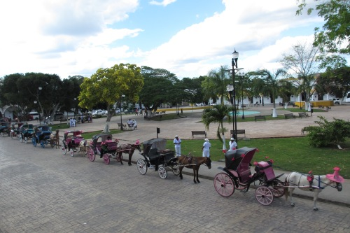 Main plaza, Izamal, Yucatan, Mexico; Photo:KFawcett