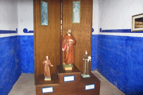 San Felipe de Jesus, Saint Francis of Assisi, San Antonio de Padua at the Ex-Convento in Izamal, Yucatan, Mexico; Photo:KFawcett