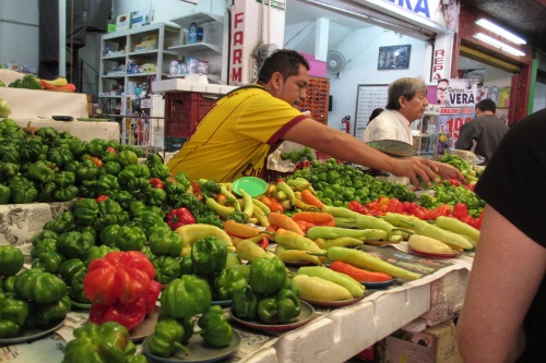 Pepper vendor, Mercado in Merida, Yucatan, Mexico; Photo:KFawcett