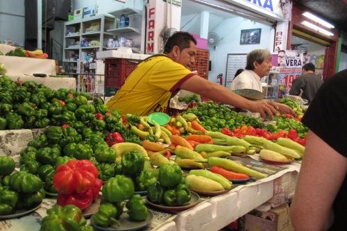 Pepper vendor, Mercado in Merida, Yucatan, Mexico; Photo:KFawcett