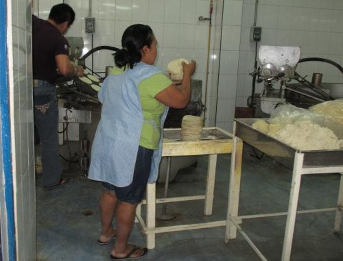 Tortilla maker, Merida Market, Yucatan, Mexico; Photo:KFawcett