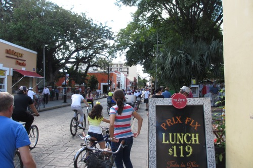 Biking.  Merida, Yucatan; Photo:KFawcett