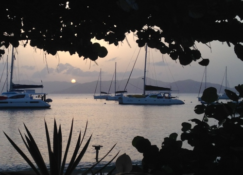 Sunset, Cooper Island, BVI; Photo:KFawcett