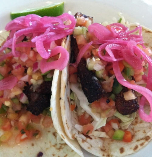 Fish tacos at Off the Hook, Bethany Beach, Delaware; Photo:KFawcett