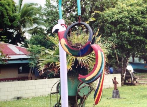 Recycled Art, Tortuguero, Costa Rica; Photo:MFawcett