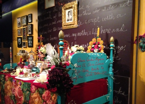 Sandra Cisneros's altar in honor of her mother at National Museum of American History in DC; Photo:KFawcett