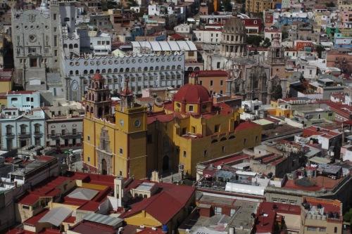 Guanajuato's Centro Historico from the funicular; Photo:KFawcett