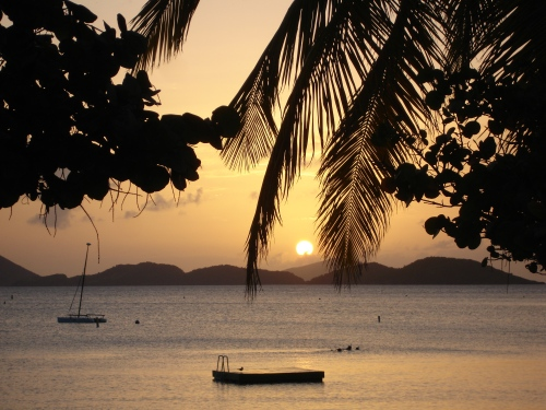 St. John sunset, USVI; Photo:KFawcett