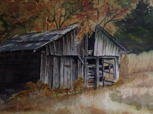 Barn in KY; painted by a family friend, Ed McGrath,sometime in the 80s